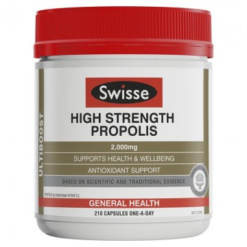 Swisse Ultiboost High Strength Propolis 2000mg 黑蜂胶 210粒