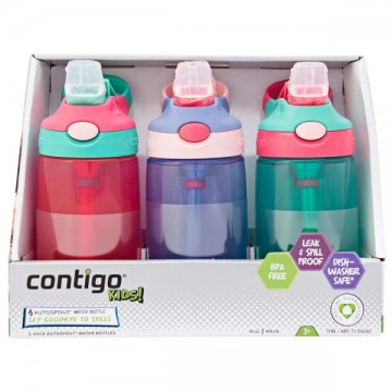 Contigo kids girls 儿童吸管水杯 女孩款 3瓶装